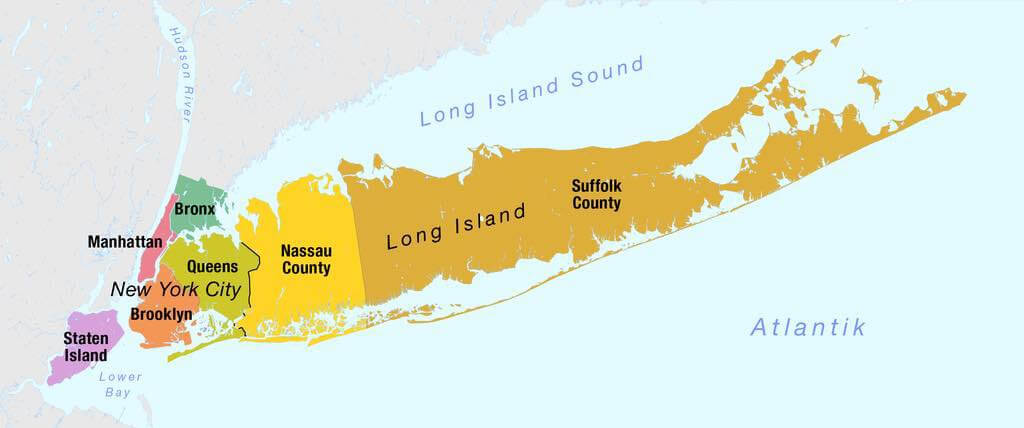map of long island ny